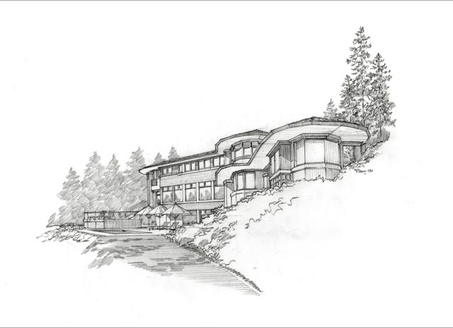 Architecture pencil sketch