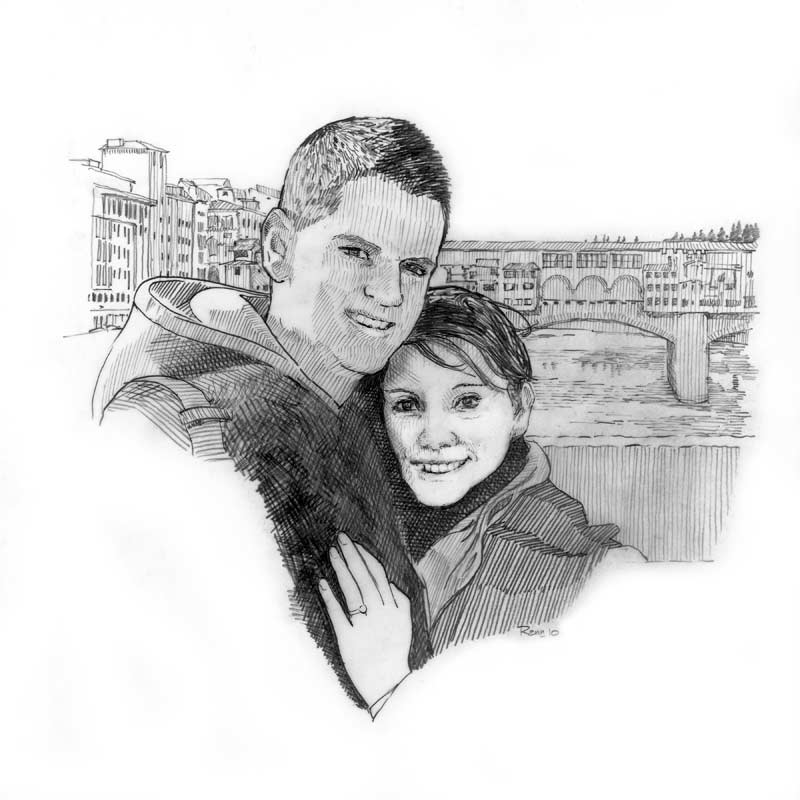 couples pencil sketch images
