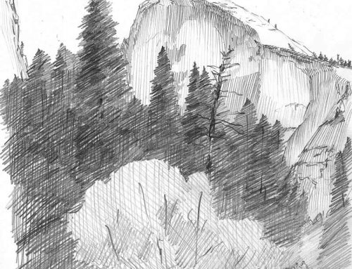 Half Dome – Pencil Sketch